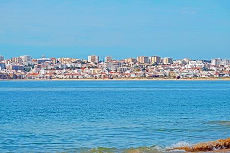 View on Lagos in the Algarve Portugal Stockfoto