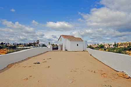 Church Senhora Nossa in Armacao de Pera Algarve Portugal Standard-Bild - 123552988