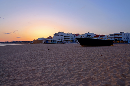 View on Armacao de Pera at sunset
