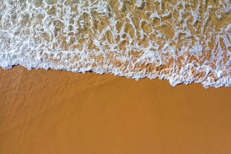 Aerial top shot from ocean waves at the atlantic ocean Stok Fotoğraf