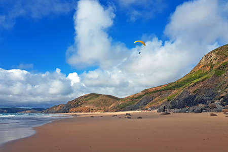 Paragliding at the west coast in Portugal