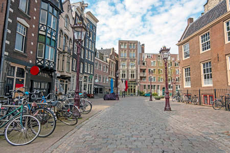 City scenic from in the city center from Amsterdam in the Netherlands