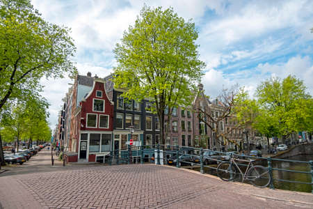 City scenic from Amsterdam at the Reguliersgracht in the Netherlands