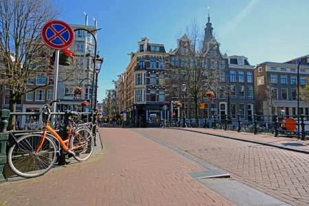 City scenic from Amsterdam with the Zuiderkerk in the Netherlands
