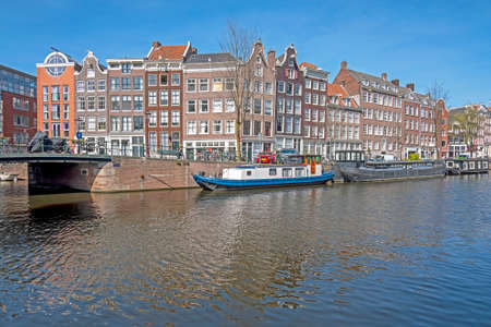 City scenic from in the Jordaan in Amsterdam in the Netherlands 免版税图像