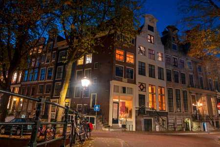 Cityscenic at the Herengracht in Amsterdam the Netherlands at night