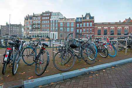 City scenic from Amsterdam at the Amstel in the Netherlands 免版税图像