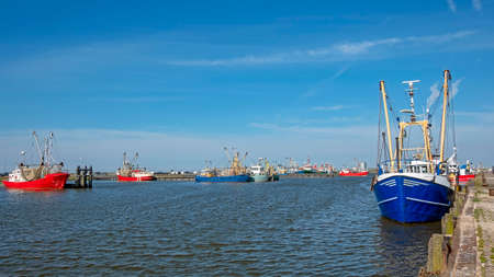 The fishing harbor in Lauwersoog Friesland the Netherlands