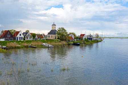 The ancient village Durgerdam at the IJsselmeer in the Netherlands