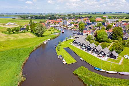 Aerial from the village Gaastmeer in Friesland the Netherlands