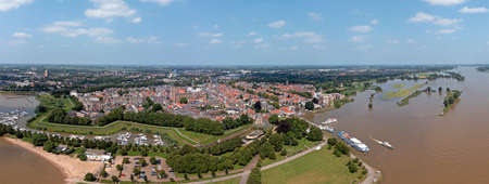 Aerial panorama from the city Gorinchem in the Netherlands