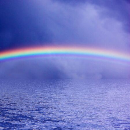 Sky Rainbow Sea - background photo