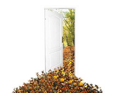 Door to new world. Autumn version. Easy editable image. Stock Photo - 1067828