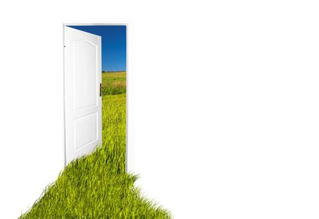 Door to the new world. Easy editable image. See also different versions! photo