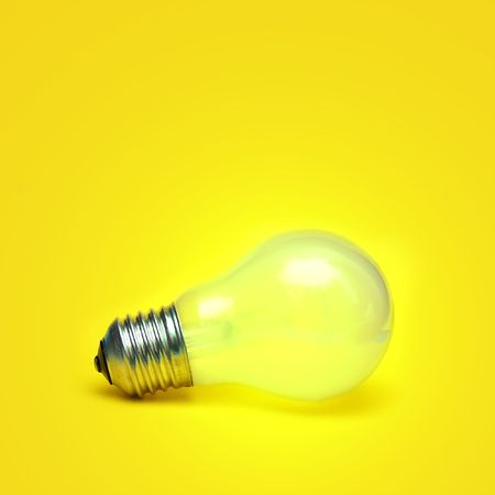 Light shining bulb with copyspace above Stock Photo