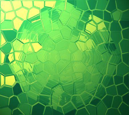 Green-yellow dynamic mosaic background
