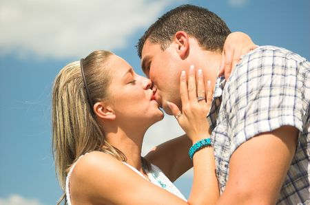 hot boy: Young couple in love