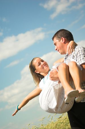 Young couple in love Stock Photo - 1141480