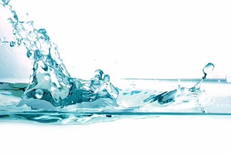 Fresh water splash on white background