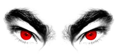 killer: Angry red eyes of beast or devil Stock Photo