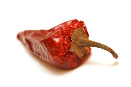 shrunken: Rotten pepper isolated on white background Stock Photo