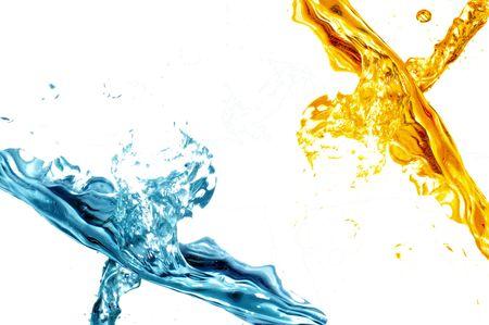 to watersplash: Fresh water splash on white background