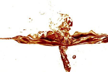 to watersplash: Cola splash on white background