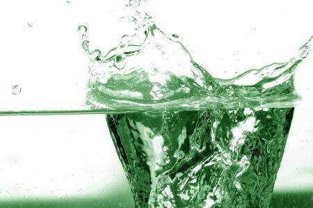 Green splash abstract background Zdjęcie Seryjne - 1126854