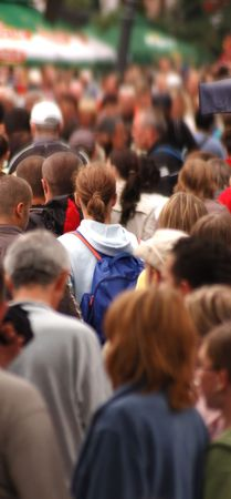 Street crowd in motion Stock Photo - 1134537