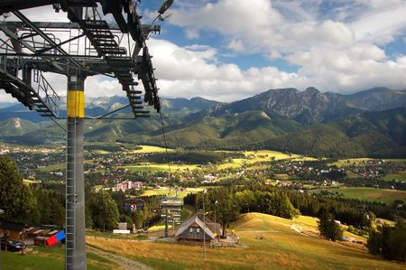 chairlift: A chair-lift in Tatra Mountains