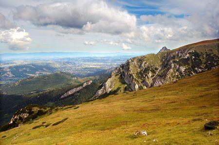 giewont: Tatra Mountains landscape (Giewont peak) Stock Photo