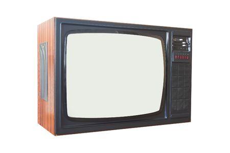 cathode: Old retro TV set. 70s style Stock Photo