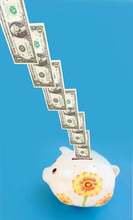 recoger: Dólares entrada en hucha (moneybox).