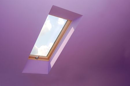 View through the window. Easy editable image. Stock Photo - 1148810