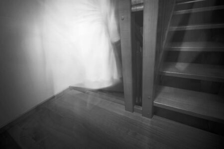 horrifying: Ghost going downstairs