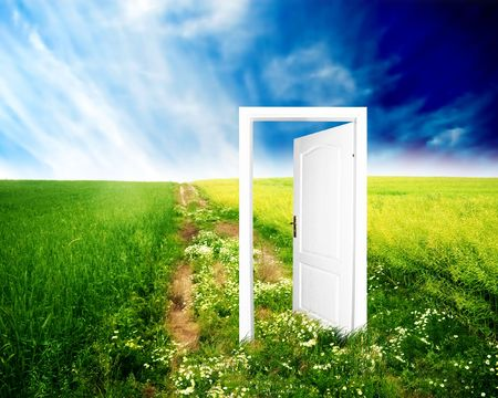 Door to new world. Colourful, bright, great quality. Stock Photo - 3259310