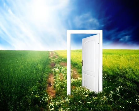 Door to new world. Colourful, bright, great quality. Stock Photo - 3259308