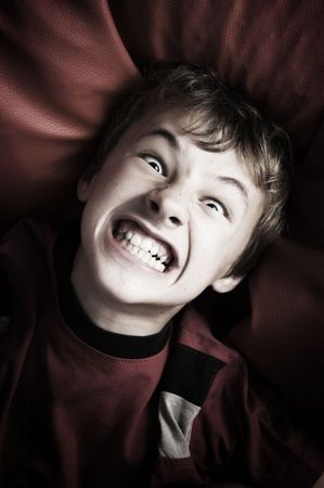 Portrait of angry young boy Stock Photo - 3293008