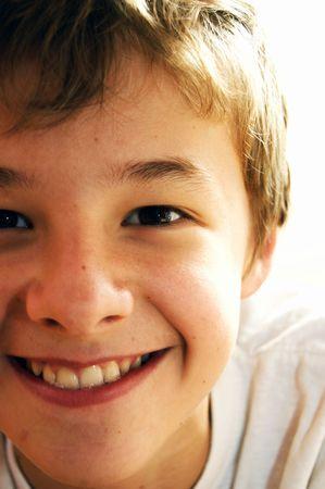 Portrait of cute young casuasian boy Stock Photo - 3537410