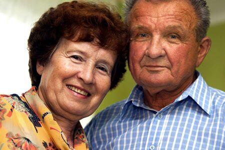 Happy senior couple in home Stock Photo - 3586734