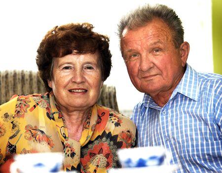 Happy senior couple in home Stock Photo - 3586730
