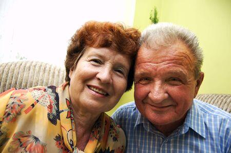 Happy senior couple in home Stock Photo - 3581468