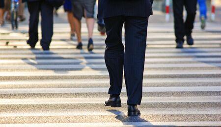 prospect: Les gens d'affaires dans la rue