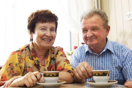 Happy senior couple in home Stock Photo - 3581454