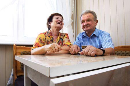 Happy senior couple in kitchen Stock Photo - 3581431