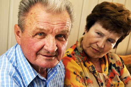 Senior couple and emotions between them Stock Photo - 3581463