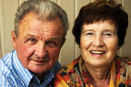 Happy senior couple isolated on white Stock Photo - 3581515