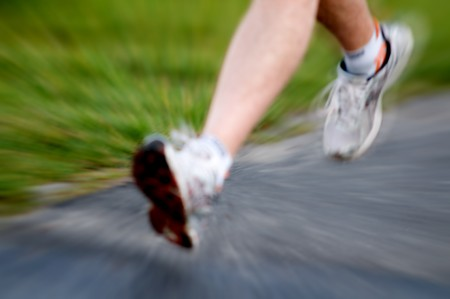Man running active lifestyle concept. Motion blurred Stock Photo - 4157025