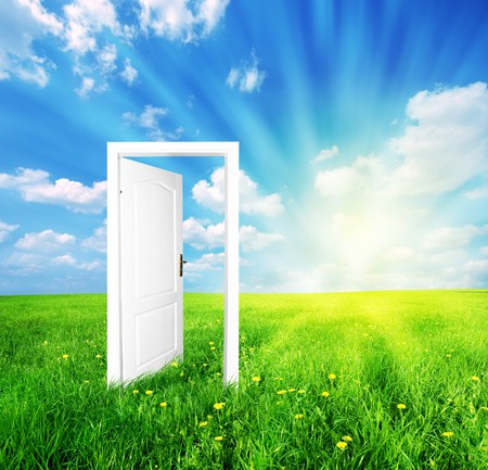 Door to new world. See also different versions of this great concept! Stock Photo - 4415877