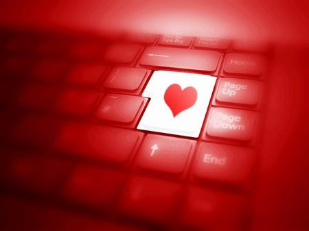 Keyboard with highlighted Love button. See also different versions! photo